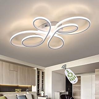 ZMH Plafonnier moderne à LED, éclairage intérieur, en métal, illumination à intensité variable avec télécommande pour salo...