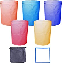 Growtent Garden 5-Gallon 5-Bag Herbal Ice Bubble Hash Bag Essence Extractor Kit - Comes with Free Pressing Screen and Storage Bag