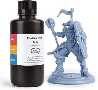 ELEGOO ABS-Like 3D Printer Rapid Resin LCD UV-Curing Resin 405nm Standard Photopolymer Resin for LCD 3D Printing 500Gram Grey