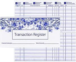 Checkbook Registers for Personal Checkbook, Transaction Ledgers, Pack of 10, 2019-2020-2021 Calendar