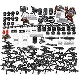 Feleph Accessori Militari Giocattolo, Armi Custom Set per Personaggi della Polizia SWAT Soldato, Armatura Mattoni COMPATIBILI con Grandi Marchi