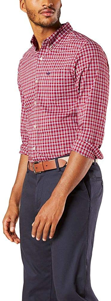 Dockers Men's Long Sleeve Signature Comfort Flex Shirt (Legacy)