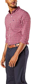 Men's Long Sleeve Plaid Woven Shirt