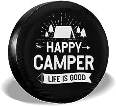 ULNL Happy Camper Spare Wheel Tire Cover Waterproof Tire Protectors (14,15,16,17 Inch)