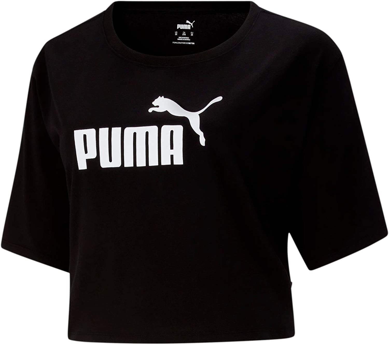 PUMA Women's Essentials+ Cropped Logo Tee