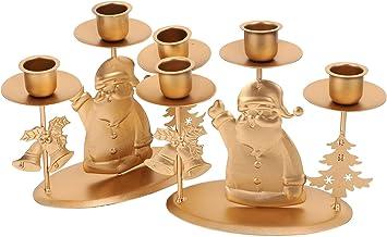 Garneck 2PCS Castiçal Tealight Titular Suporte de Vela de Natal Enfeites de Natal Decoração de Natal Ornamento Do Partido ...
