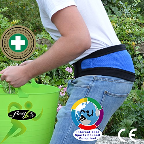 Lumbar Belt Hip & Lower Back Support - No Fixed Stays, Non Sweat - Superior Odourless, Rash-Free Alternative to Neoprene/Latex Products. Unisex. (Extra Groß)
