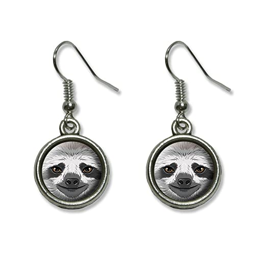 0d4cee67c Sloth Face Novelty Dangling Dangle Drop Charm Earrings