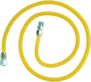 BrassCraft CSSD54-72 P 1/2-Inch FIP x 1/2-Inch MIP x 72-Inch ProCoat Gas Appliance Connector with  1/2-Inch OD
