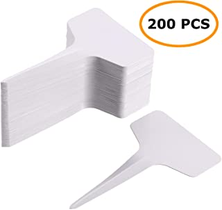 MaKas 200 Pcs White Plant T-Type Tags Nursery Garden Labels, 2.36×3.94 Inches