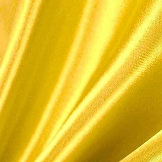 lemon yellow satin fabric