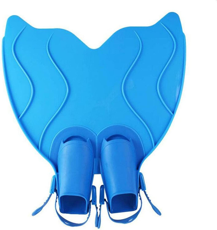 ダイビング足ひれ Monofin Flippers水泳玩具トレーニング (色 : 青, サイズ : 36-42)