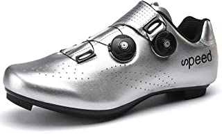 VILOCY Cycling Shoes for Mens Road Bike with SPD Cleats Touring Riding Spin Shoes for Men