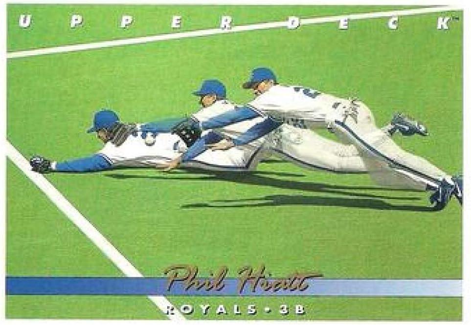 free shipping 1993 Upper Deck Gold Hologram #645 City Hiatt Phil Kansas Royals Over item handling ☆