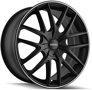 TOUREN TR60 (3260) BLACK Wheel with Matte MACHINED Ring (0 x 7. inches /5 x 110 mm, 42 mm Offset)