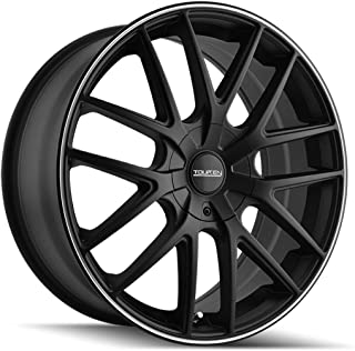 Touren TR60 18 Black Wheel/Rim 5x4.25 & 5x4.5 with a 40mm Offset and a 72.62 Hub Bore. Partnumber 3260-8814MB