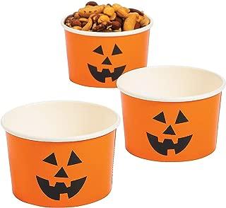Jack O Lantern Pumpkin Snack Cups (bulk set of 25 bowls) Halloween Party Supplies
