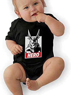 All Might-My Hero Academia Baby Short Sleeve Bodysuit Black