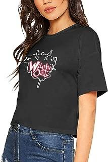 JosephHenkle Womens Fashion T-Shirts Womans Sexy Tee Black Crop