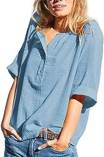 Mogogo Women's Regular Casual Slim Fit V Neck Tees Top Wild Tees Shirt