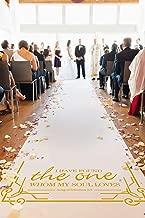 Healon Wedding Decor Aisle Runners for Weddings Outdoor Accessories Runner Rug 100 x 3 ft Golden