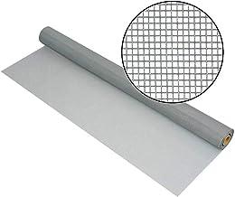 Loboo Idea Glasvezel venster scherm Mesh Roll, 47 Inch x 100 Voet Glasvezel scherm Vervanging Mesh voor raam, deur en terr...