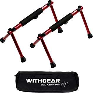 Withgear Folding Push Up Bar - Portable and Lightweight Sturdy Duralumin Push Up Bar for Men and Women