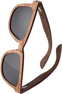WOLA rettangolare estilo occhiali da sole in legno AERO donna i uomo legno, sunglasses eyewear UV400 - polarizzati