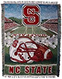 The Northwest Company NC State Wolfpack 'Home Field Advantage' Woven Tapestry Throw Blanket, 48' x 60' , red