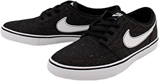 SB Mens Solarsoft Portmore II Canvas Premium Skateboarding Shoe Black/White