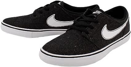 Nike SB Mens Solarsoft Portmore II Canvas Premium Skateboarding Shoe Black/White