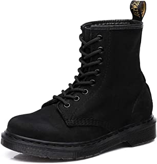 Bitifang Women Fashion Tactical Military Combat Timberland Ankle Bootie Hiking Lace Up Black Non-Slip Sole Work Boots