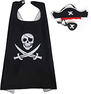 WGT Fun Pirate Cape for Boys and Girls - Birthday Party/Halloween/Christmas Cartoon Costume