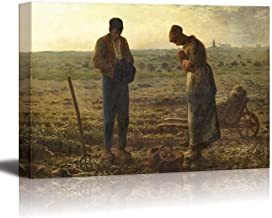 """wall26 - The Angelus by Jean-Francois Millet - Canvas Print Wall Art Famous Painting Reproduction 16"""" x 24"""" Update"""