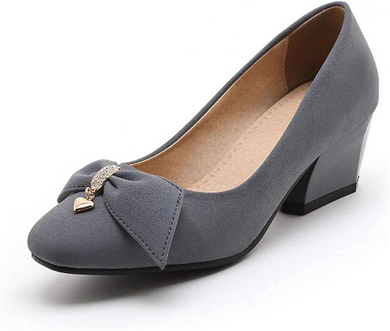 31-47Spring Autumn Women's Pumps Square Toe Women shoes High Heels Concise and shoes 504