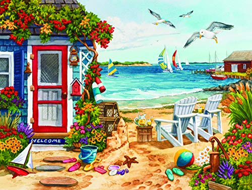 Beach Summer Cottage 1000 pc Jigsaw Puzzle by SunsOut