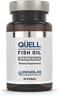 Douglas Laboratories - Quell Fish Oil EPA/DHA Plus D - 3:2 Ratio of EPA & DHA Essential Omega 3 Fatty Acids Plus 1,000 I.U. of Vitamin D3-60 Softgels - coolthings.us