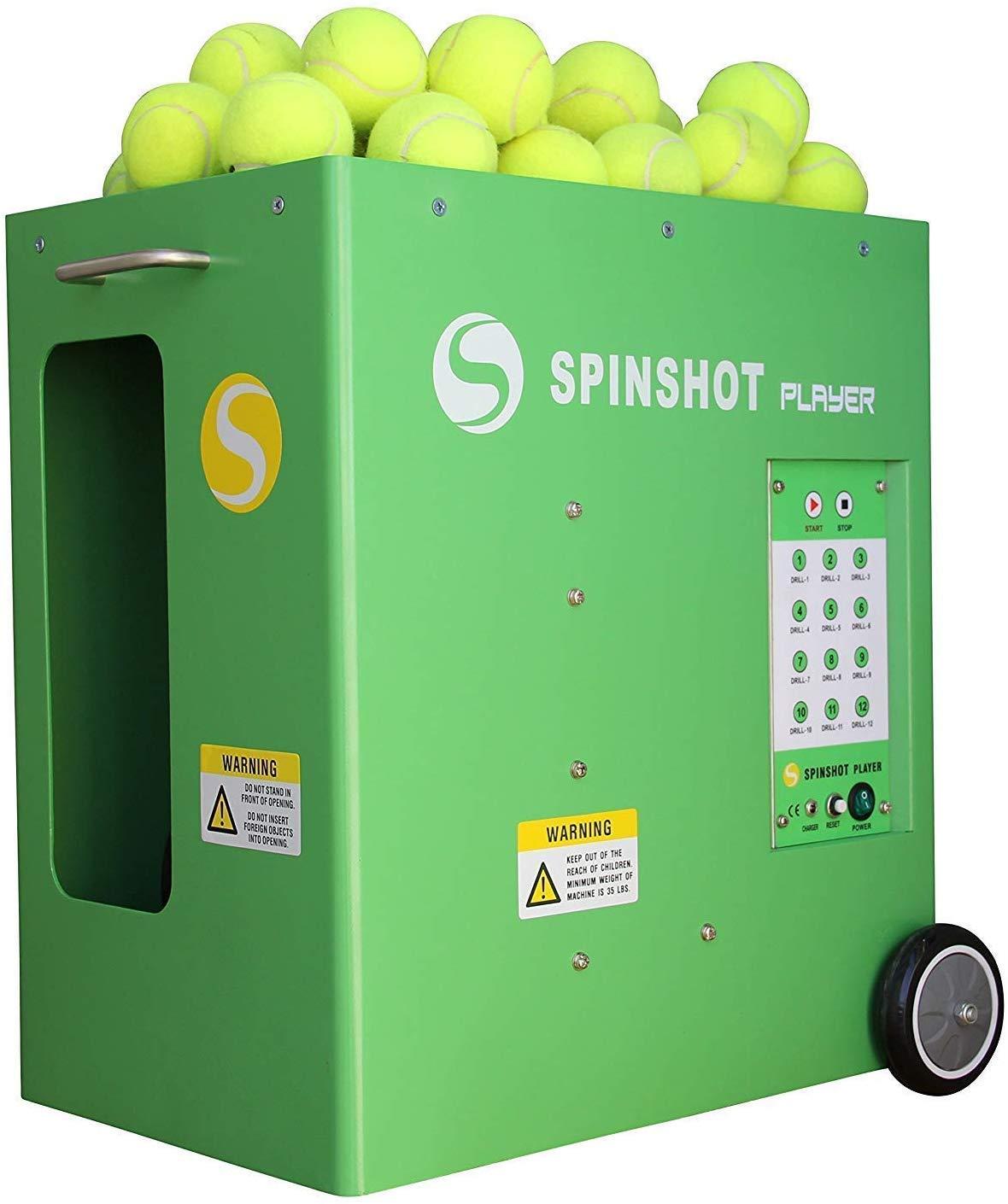 Spinshot Player Tennis Machine Remote Supported