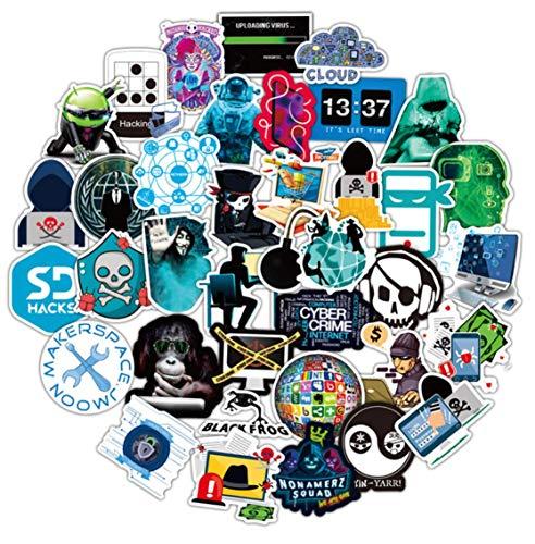 50 Laptop-Aufkleber für Entwickler, Programmiersprache, Geeks, Ingenieure, Hackers