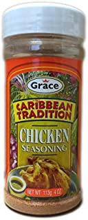 Grace Caribbean Tradition Chicken Seasoning 4 Oz (Pack of 3)