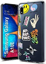TalkingCase Clear Thin Gel Phone Case for Samsung Galaxy A20,A30,Rad Stickers Collage,Light Weight,Ultra Flexible,Soft Touch,Anti-Scratch,Designed and Printed in USA
