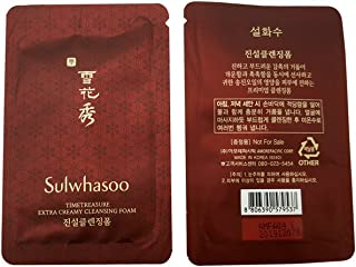 30X Sulwhasoo Timetreasure Extra Creamy Cleansing Foam 1ml SUPER SAVER THAN NORMAL SIZE and Hair Tie 1pc(Random Color)