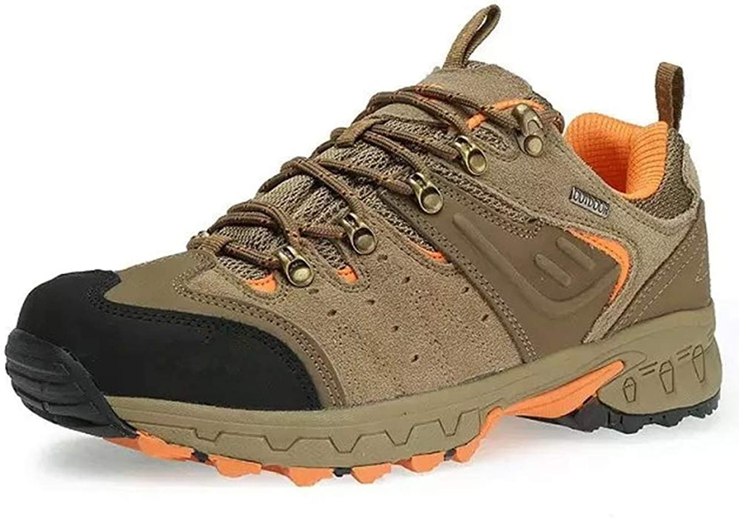 Men's Outdoor shoes Fall Winter Keep Warm Non Slip shoes Tourism Hiking Trekking shoes Brown Yellow Brown Red,B,41
