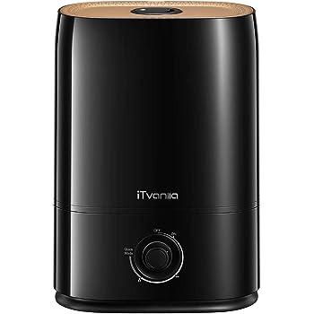 iTvanila Humidificador, 5L Humidificador Ultrasónico para Dormitorios Grandes, 40 Horas de Tiempo de Funcionamiento, Nanocoating, Boquilla de 360 °, Ultra Silencioso, Apagado Automático
