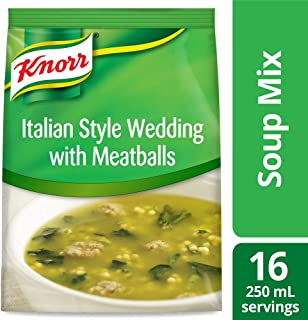 Knorr Professional Soup du Jour Italian Style Wedding with Meatballs Soup Mix No added MSG, 0g Trans Fat per Serving, Just Add Water, 18.2 oz, Pack of 4
