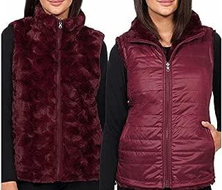 Nicolle Miller Original Women's Vest Black Reversible Faux Fur