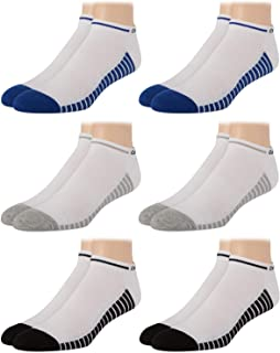 Men's Socks - Lightweight No-Show Athletic Performance Ankle Sock Liners (6 Pack)