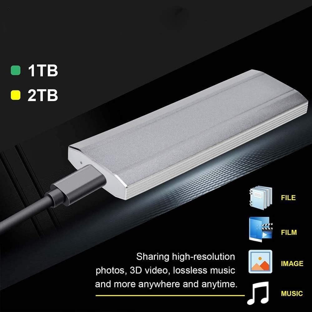 Gold-2TB Mac,Desktop 1TB 2TB Portable External Hard Drive,Ultra Thin External Hard Drive External HDD Compatible for PC Laptop