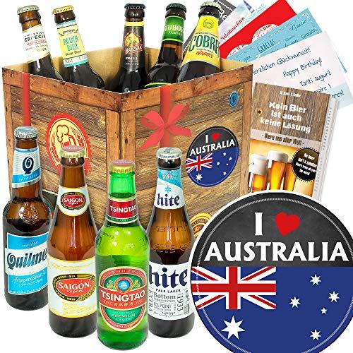 I love Australia - Bier der Welt - Geschenkbox Australien