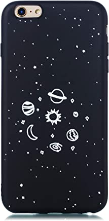 1653e4b5cc0 CUAgain Funda Compatible con iPhone 6s/iPhone 6 Silicona Dibujos Motivo  Negro Ultrafina One Piece